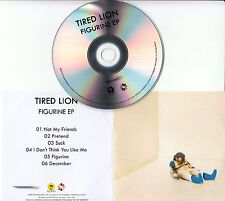 TIRED LION Figurine EP 2016 UK numbered 6-track promo test CD