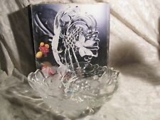 Studio Nova Frosted Crystal Large Serving Bowl Fancy Fruits with box