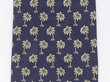 Tommy Bahama Men's Neck Tie Off Island Palm Tree Tropical Navy Blue 100% Silk