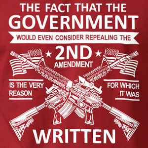 2ND AMENDMENT FACT T-Shirt Rifle AK47 Gun Rights on Soft Ringspun Cotton Tee