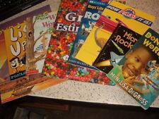 Lot of 8 Childrens Book Donavan's Word Jar Micro Rockets How Fast Is It Pyramids
