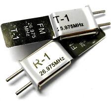 27mhz trasmettitore FM e Radio RC Crystal Set 27 MHz 26.975 TX & RX Nero CH 1