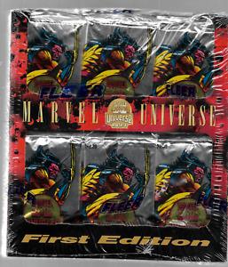 1994 FLEER MARVEL UNIVERSE UNOPENED NOT SEALED BOX 35 JUMBO PACKS
