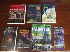 LOT of 7 BOOKS, MAPS: GHOSTS, GHOST HUNTING & HAUNTED LOCATIONS IN NEW YORK STAT