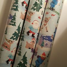 Rudolph Red Nosed Reindeer Christmas Gift Wrap 60 Sq ft. Wrapping
