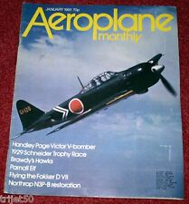 Aeroplane Monthly Magazine 1981 January Schneider Trophy 1929,RAF Brawdy Hawk