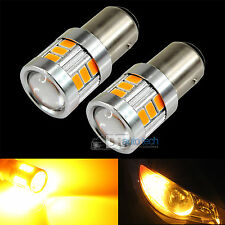 2X 40W 1157 LED Amber Yellow Turn Signal Parking DRL High Power Light Bulbs