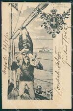 Napoli Città Marina Militare Regia Nave Saint Bon cartolina XB5360