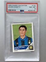 JAVIER ZANETTI ROOKIE RC 1995 Panini Calciatori #105 Inter Milan PSA 8