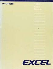 1988 Hyundai Excel Original Repair Shop Manual 88 GL GLS GS SE