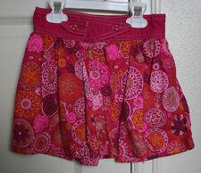 Lands End Girls Size 4 Skort SkirtPink Geometric Floral Design Elastic VGUC
