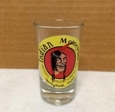 SHOT GLASS INDIAN MOTORCYCLE 2 OZ.  SPRINGFIELD MA COLLECTOR