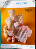 Adorable Baby Lacy Angel Top Bonnet Mary Janes 4 ply Knitting Pattern Loweth 730