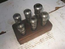 """Moore jig borer toolholders 6 pcs. 3/8"""" - 5/8"""""""