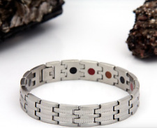 Authentic Pur life Negative Ion Bracelet ELEGANT T STYLE POLISHED STEEL BALANCE