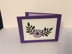 Handmade card Twist panel pop up design. Can be personalised. Flower design.