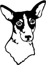 rat terrier Vinyl Decal sticker laptop car Dog puppy Animal pet pets wall bff
