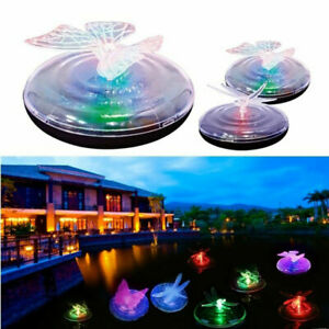 Outdoor Solar LED Floating Lights Garden Pond Pool Colorful Fountain Light UK
