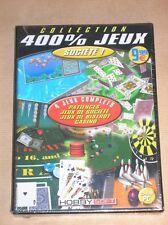 CD ROM PC / 400% JEUX / 4 JEUX DE SOCIETE COMPLETS / SOCIETE 1 / NEUF SOUS CELLO