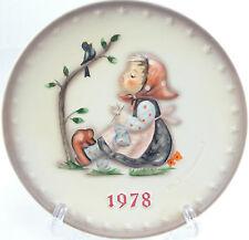 M. J. Hummel Goebel 8th Annual Plate 1978 Happy Pastime Jahresteller Germany