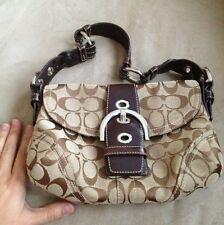 COACH Everyday Casual Designer Shoulder Strap Medium Bags Brown Signature C's