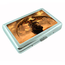 Metal Silver Cigarette Case Holder Box Dragon Design-006 Custom Fantasy Creature