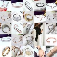 Fashion Charm Women Stainless Steel Lots Style Cuff Open Bracelet Bangle Jewelry
