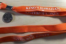 King's Hawaiian Rolls Bread Orange Lanyard #32739