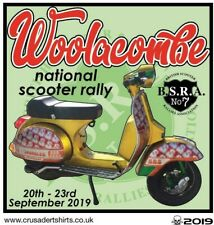 2019 WOOLACOMBE SCOOTER RALLY RUN  PATCH BSRA MODS SKINHEADS not PADDY SMITH