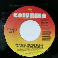 """NEW KIDS ON THE BLOCK This One's For The Children 3873064 7"""" 45rpm Vinyl VG++"""