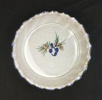 "🔷 OWENS POTTERY NC Folk Art Nancy Owens Brewer PINECONE 9 3/4"" Pie Plate Dish"