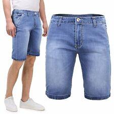 Bermuda Uomo Jeans Corto Chino Pantaloni Denim Slim Tasca America GIROGAMA 3924B