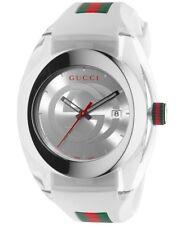 Gucci SYNC YA137102 White Rubber Band Watch