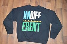 GET FAME US Mens Large 2 Chainz I'm Different Long Sleeve Spell Out Crewneck