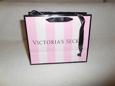 "VS Victoria Secret Pink Stripe Paper Glossy Empty Gift Bags New 7.5"" by 6""by3.5"""