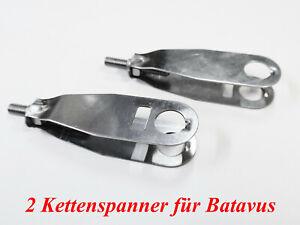 2 Kettenspanner für Batavus auch Fixies Singlespeed mit schrägem Ausfallende