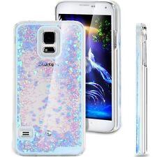 Floating Bling Glitter Sparkle Love Heart Hard Case for Samsung Galaxy S5 SV I96