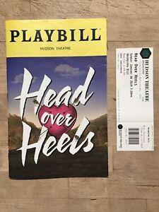 HEAD OVER HEELS Jan 2019 Broadway GO-GOS MUSICAL Playbill! New Cover + Ticket!