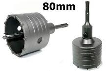 SDS Plus 80 mm Bohrkrone Dosenbohrer Lochbohrer Kernbohrer  mit Bohrer