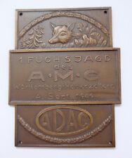 Plakette Badge Kühler Autoplakette --1. Fuchsagd A.M.C. Hohenzollern-- 1949