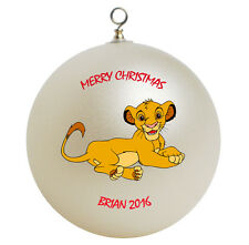 Personalized Simba The  Lion King Christmas Ornament Gift Add Name