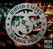 US Marine Corps. Military Decor Metal Wall Art Sign USMC EGA OFFICIALLY LICENSED