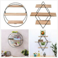Iron Three-Layer Wall-Mounted Wall Shelf Storage Display Stand Home Decoration