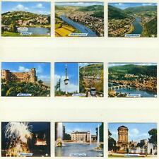 9er Streichholzetikettenserie 25b - mit Städtebilder (Heidelberg und Umgebung)