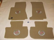 Lloyd  Piece Floor Mat Set 2008-2013 Cadillac CTS Crest logo on 4 tan mats RWD