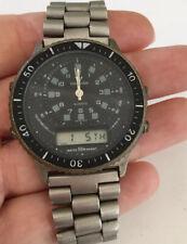 Vintage 80's Men's Waltham Tachymeter Chronograph Digital Dive Aviator Watch