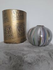 More details for isle of wight glass - zanfirico - large globe vase 4 1/4