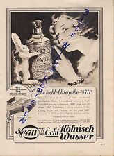 KÖLN, Werbung 1933, Nr. 4711 Tosca Parfum Eau de Cologne Creme Puder Seife Haarw