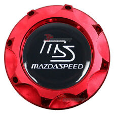 Red Engine Oil Filler Fuel Cap Tank Cover Aluminum For Mazda 3 6 CX7 RX8 MX5