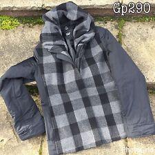 "MILO Coats Womens Ladies Jacket Black Check Zip Up Hooded Size UK16 Chest 42"""